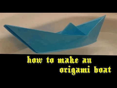 How To Make An Origami Boat - Art Balloon