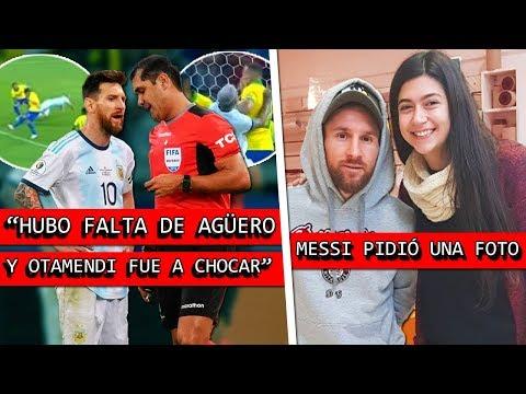 HABLÓ el ARBITRO del ARGENTINA vs BRASIL + MESSI pidió una FOTO y la razón fue VIRAL 😧