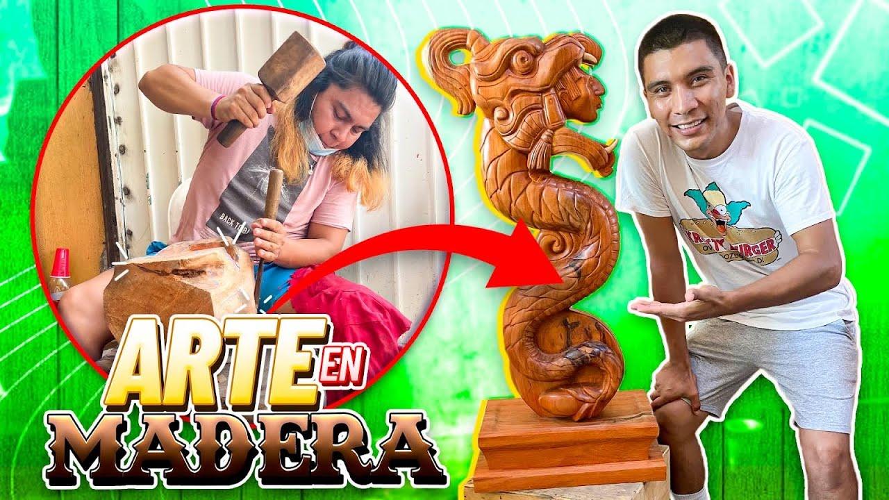 👷🏽♂️ASÍ SE FABRICAN ESCULTURAS CON TROZOS DE MADERA 
