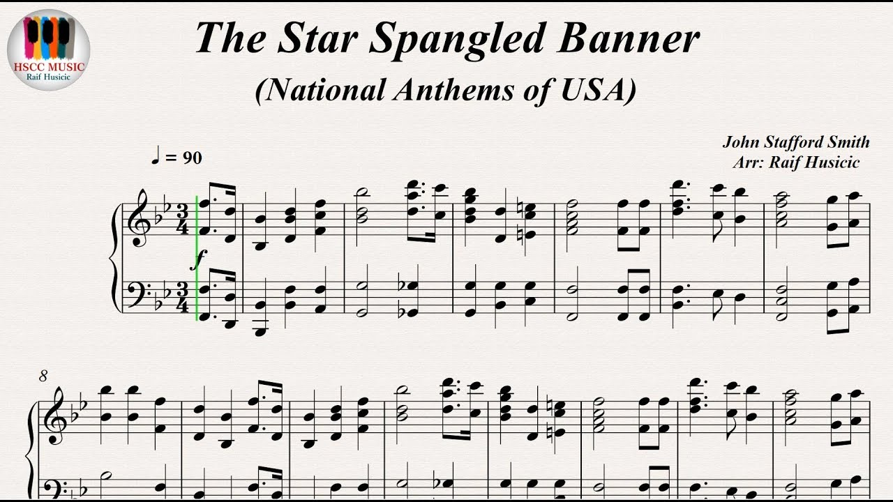 The Star Spangled Banner National Anthems Of Usa Piano Youtube
