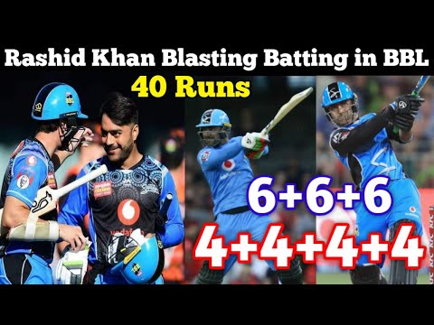 Rashid Khan Brilliant Batting 40 Runs On 18 Balls In Big Bash League 2019 2020 | Cricket 4 Asia |
