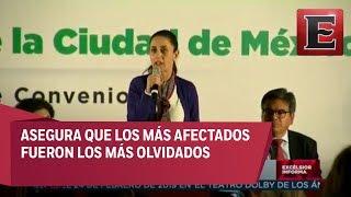 Claudia Sheinbaum firma convenio con damnificados de Iztapalapa