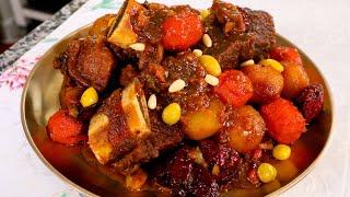 Galbi-jjim (Braised beef short…