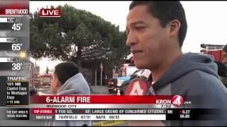Massive 6-Alarm Fire Burning in Redwood City