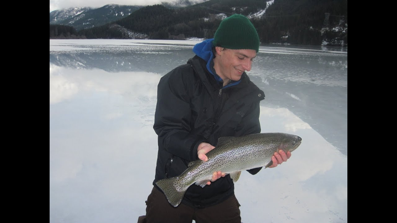 Ice fishing rainbow trout youtube for Ice fishing youtube