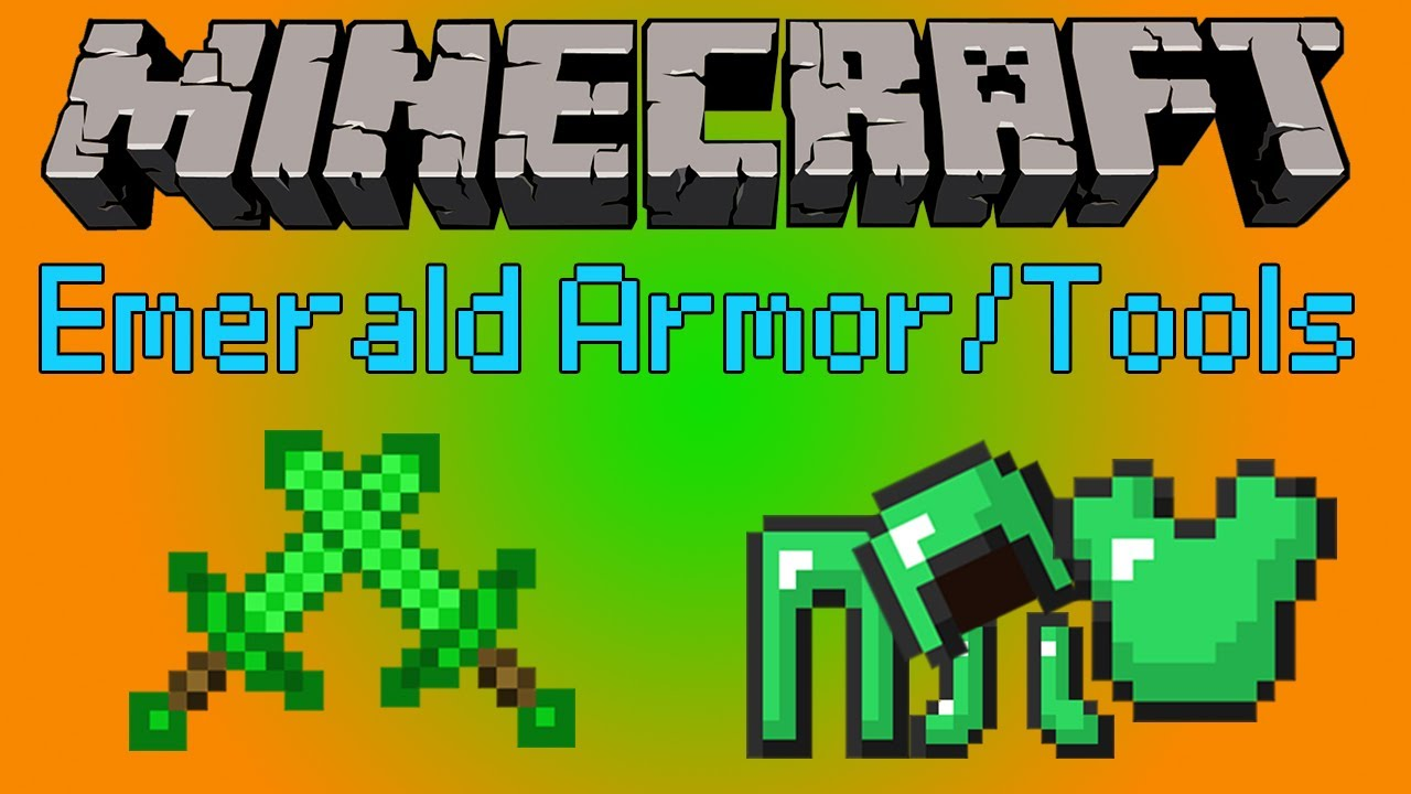 Minecraft: Emerald Armor/Tools [1.6.2] - YouTube