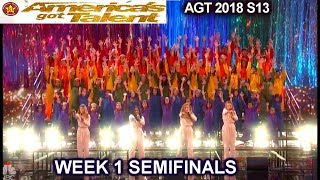 "Voices of Hope Children's Choir ""Defying Gravity"" AWESOME Semifinals 1 America's Got Talent 2018 AGT"