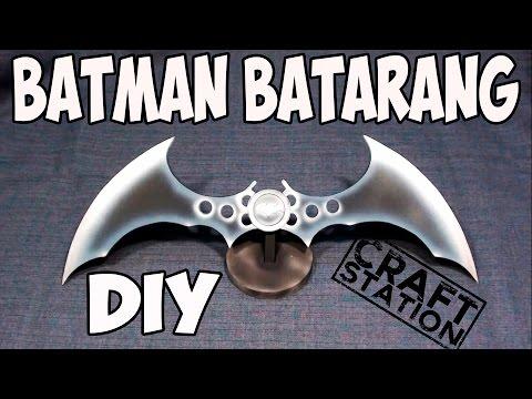 How to make Batman Arkham Knight - Batarang DIY  with templates