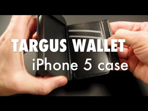the best attitude 7376f cedab Review of Targus Wallet Case for iPhone 5 - YouTube