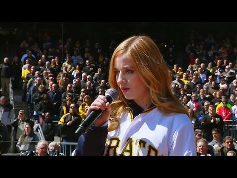 Jackie Evancho at PNC Park National Anthem 2016