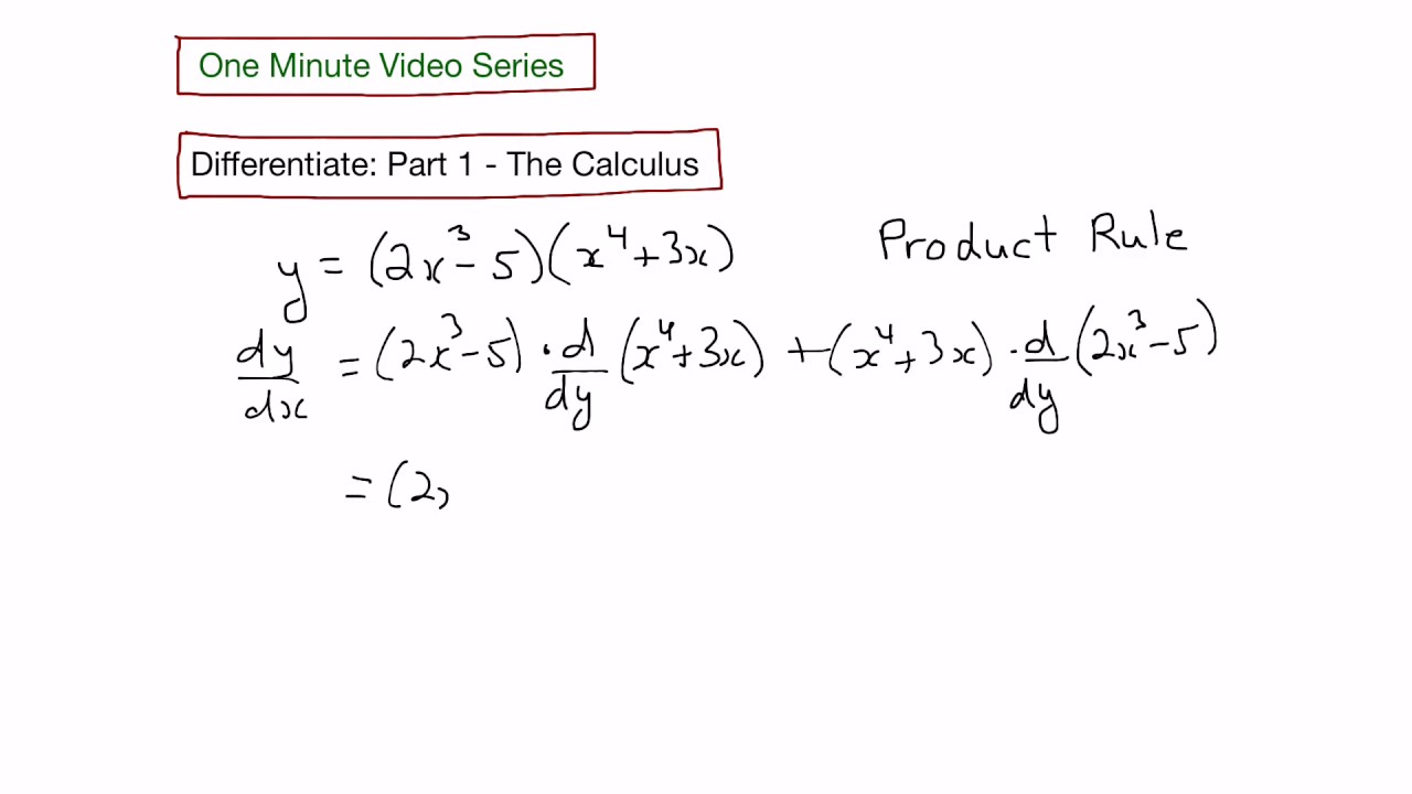 rule derivative using finding