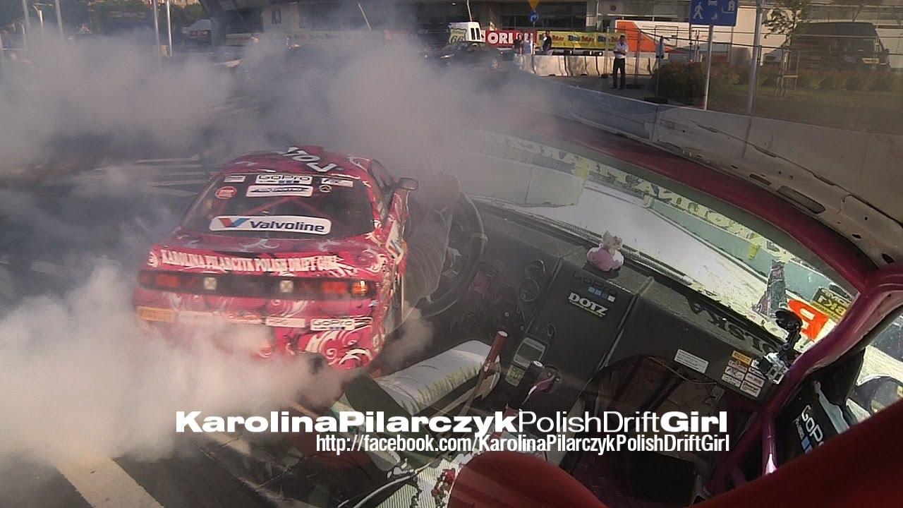 Karolina Pilarczyk Polish Drift Girl - 2013 BudMat Driftshow Płock - 720p