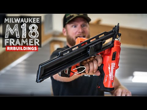 Finally - - The Milwaukee M18 Battery Powered Framing Nail gun is HERE