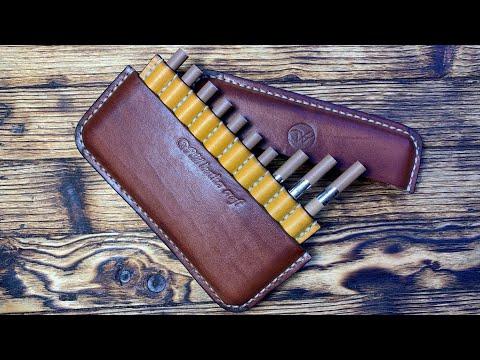 Портсигар/Cigarette Case из кожи Краст от #wildleathercraft