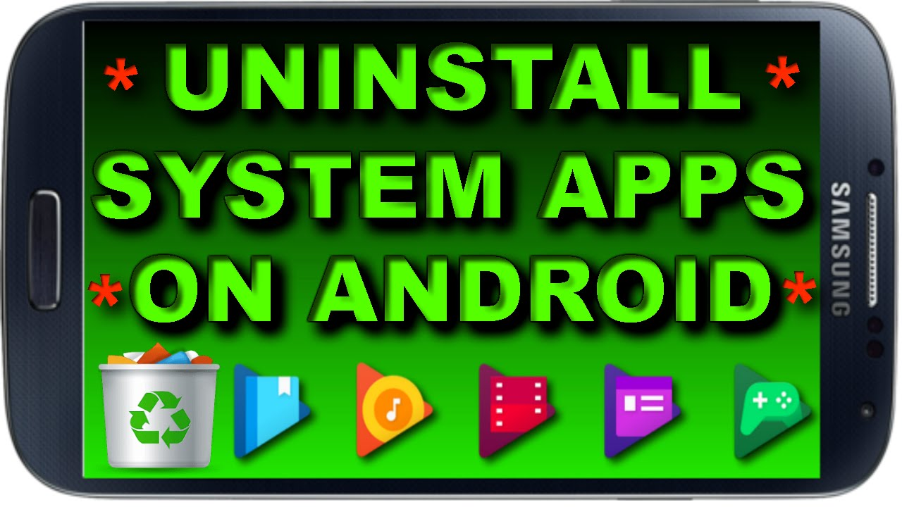 How to uninstall System Apps on Android 📱 uninstall Pre-Installed Apps and  Increase Phone Memory