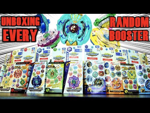 Unboxing ALL Beyblade Random Boosters!