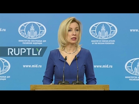 LIVE: Russian FM spokesperson Zakharova holds press briefing in Moscow