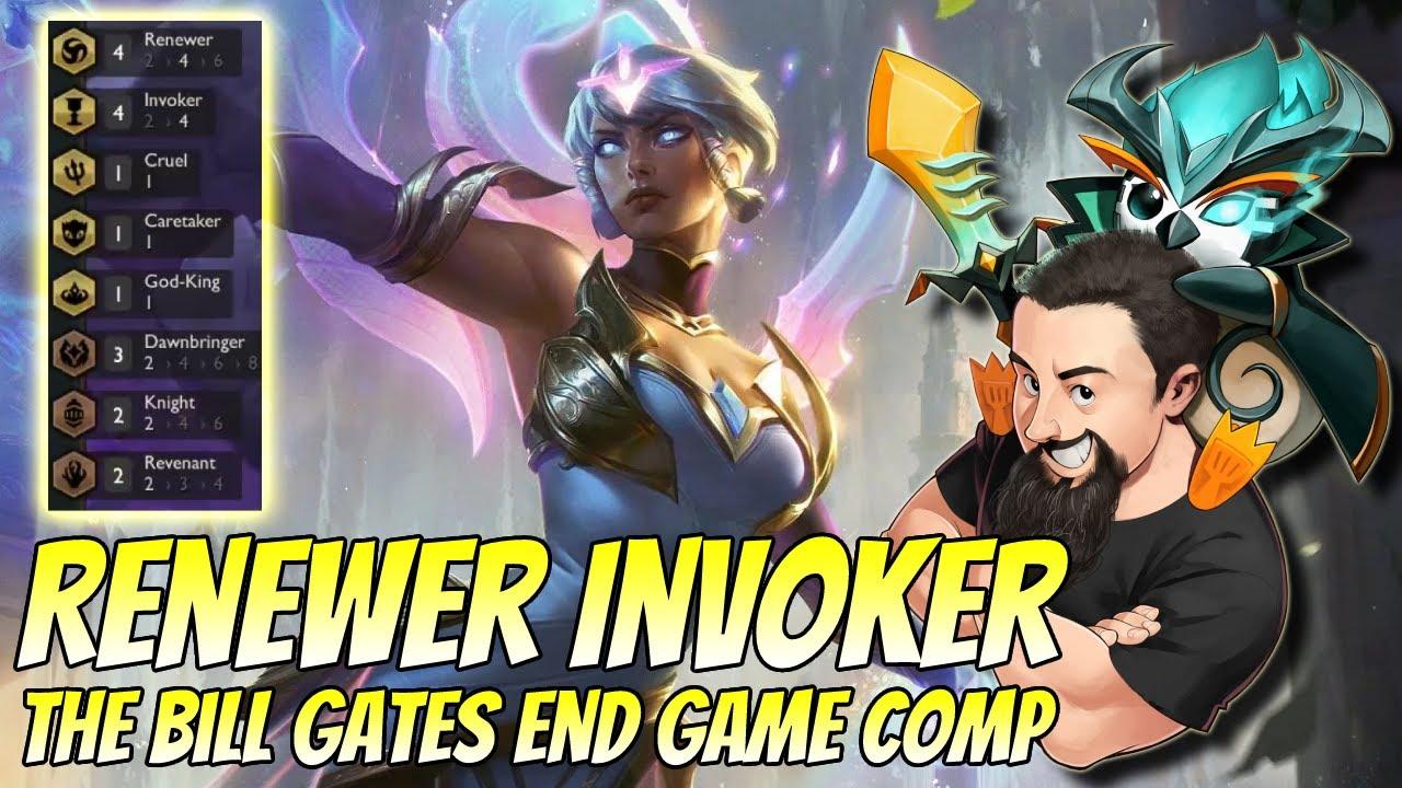 Renewer Invoker - The Bill Gates comp! | TFT Reckoning | Teamfight Tactics