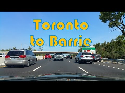 Toronto (Finch Ave) to Barrie on Highway 400