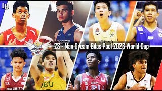 23- Man Dream Gilas Pool for 2023 World Cup