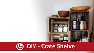 DIY Wooden Crate Shelve , simple and easy