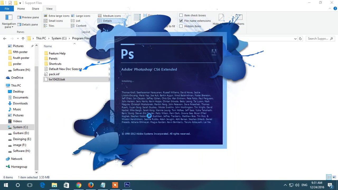 How to change adobe photoshop cs6 language | computer tutorial test.
