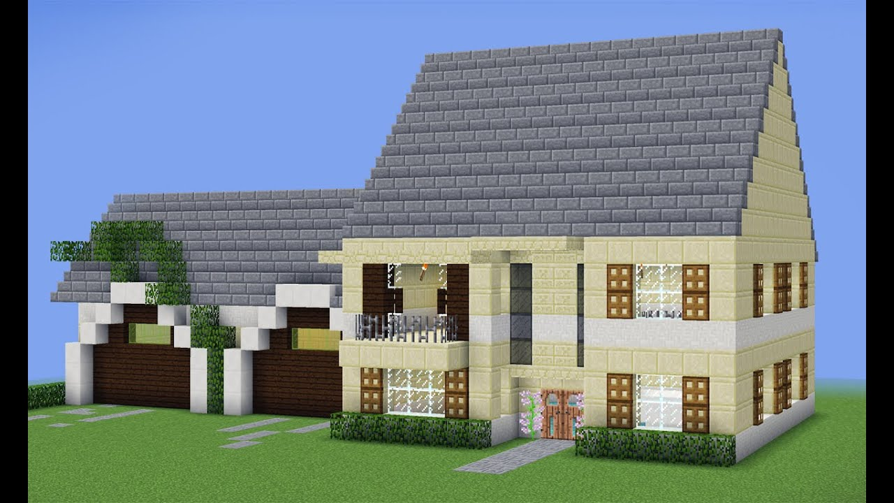 Minecraft tutorial casa grande moderna youtube for Tutorial casa moderna grande minecraft