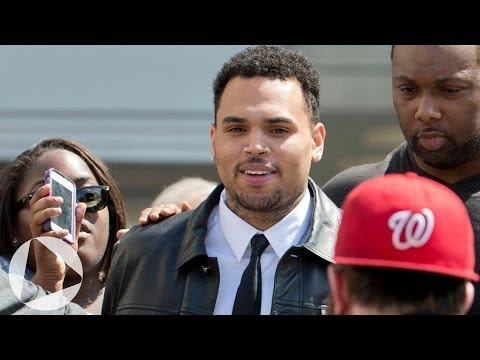 Chris Brown leaves D.C. court amid fan frenzy