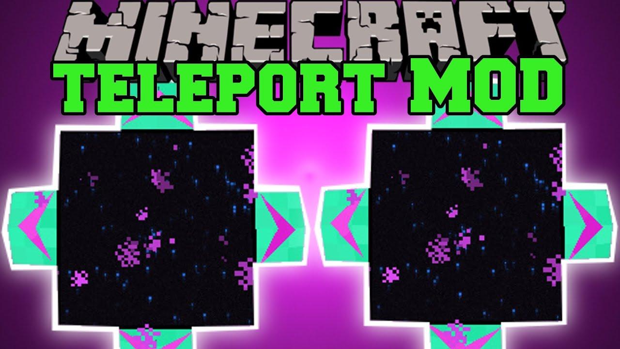 Minecraft TELEPORT MOD TRAVEL THROUGH DIMENSIONS TelePad Mod - Minecraft alle spieler teleportieren