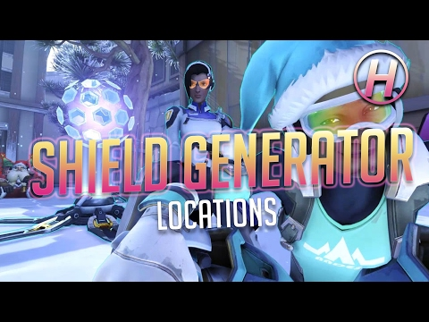 [Overwatch] Master Symmetra Guide | Shield Generator Locations (All Maps)
