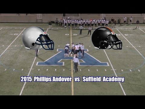 2015 Phillips Andover Football vs  Suffield Academy