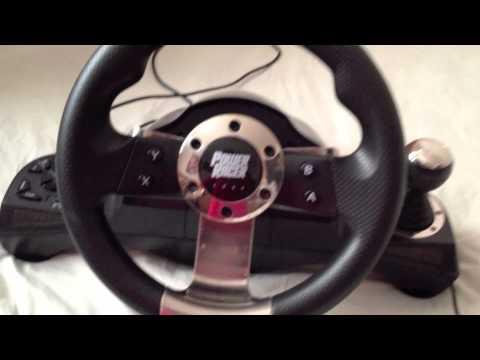 Xbox 360 Steering Wheel - Datel Power Racer 270