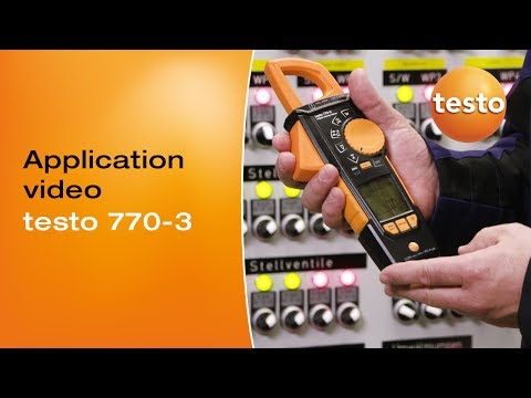 Application Video - testo 770-3 | Be sure. Testo