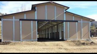 16 stall Raised Center Aisle Barn by Barns-n-More