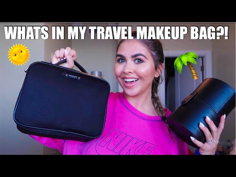 WHATS IN MY TRAVEL MAKEUP BAG! + how I pack it! ❤️ thumbnail