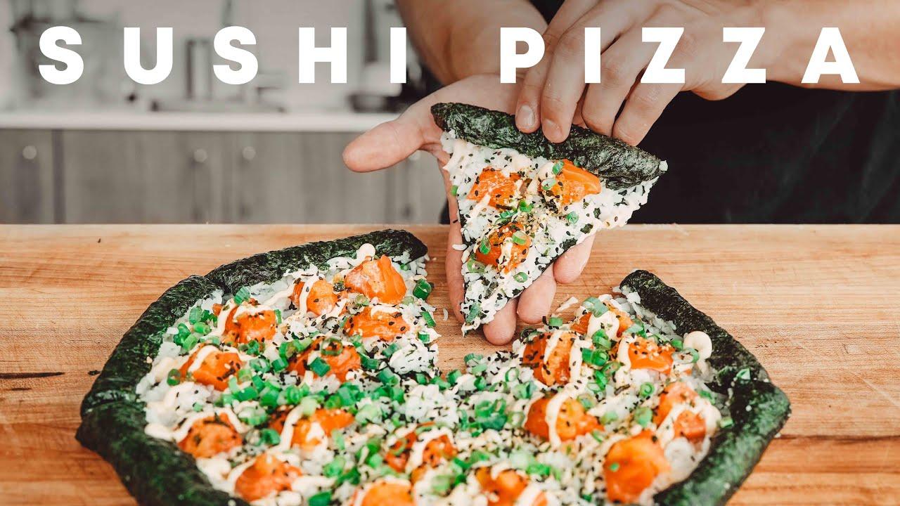 Salmon Sushi Pizza