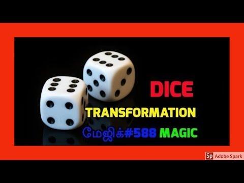 ONLINE TAMIL MAGIC I ONLINE MAGIC TRICKS TAMIL #588 I DICE TRANSFORMATION