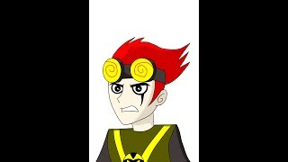 Speed drawing -Jack Spicer (Xiaolin Chronicles)