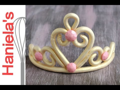 How To Make Princess Tiara from Gumpaste - YouTube