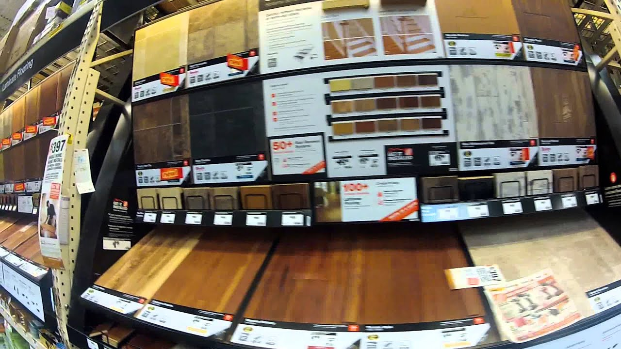 Laminate Flooring Display For Sale At Home Depot Youtube