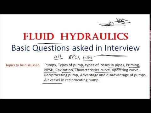 Interview /Fluid Hydraulics/Characteristic Curve/NPSH/Cavitation/Priming
