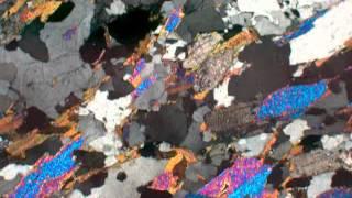 Kyanite garnet mica schist (XP)