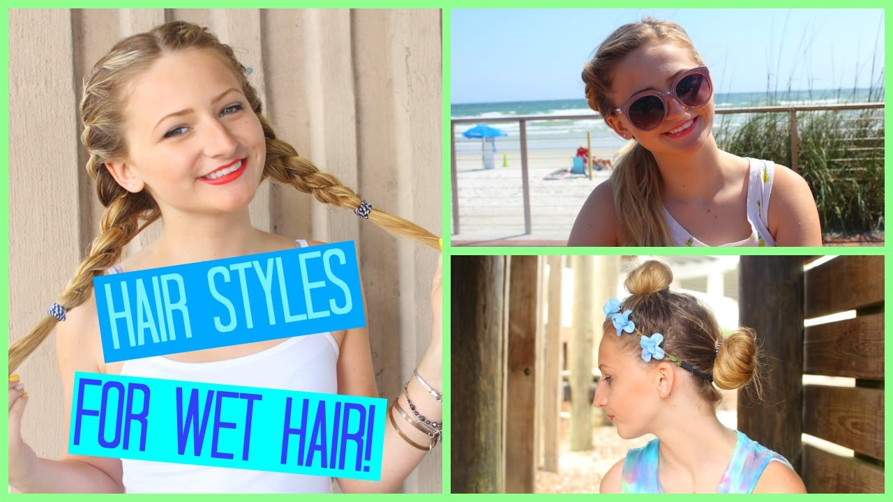 SIMPLE Hairstyles For WET Hair! - YouTube