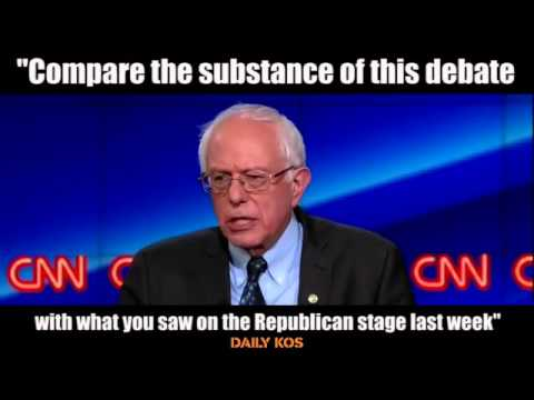 """""""Compare the substance of this debate with what you saw on the Republican stage last week"""""""