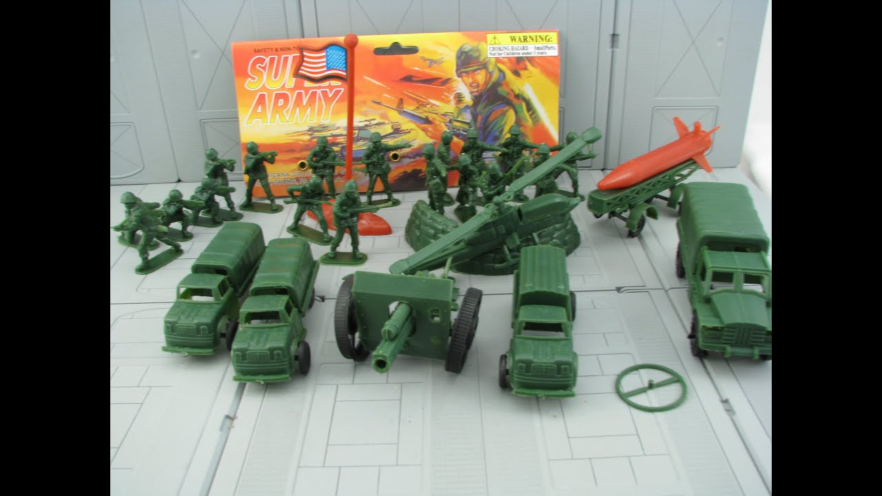 SUPER ARMY MEN TOY REVIEW