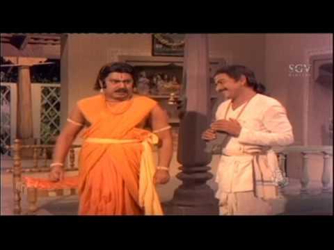 Dr Rajkumar | Sani Mahadeva | Super Fight With God Kannada Scenes | Bhaktha Kumbara Kannada Movie