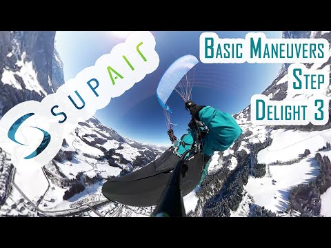 basic paragliding maneuvers supair step delight 3