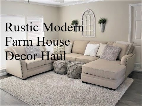 Rustic Modern Farmhouse Home Decor Haul Hobby Lobby Mini Ulta Haul Youtube