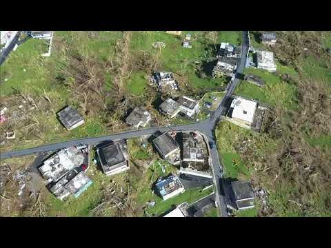 Drone footage of Juncos Puerto Rico after Maria