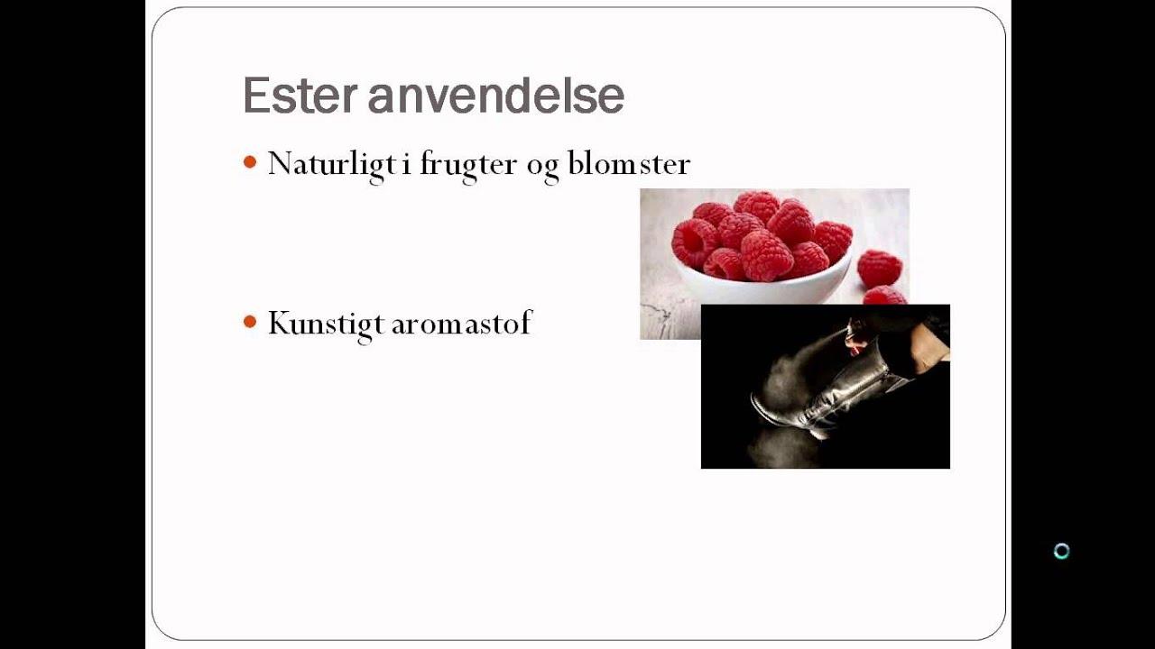 Organisk kemi eksamensspørgsmål Kristine - Carboxylsyrer og estere
